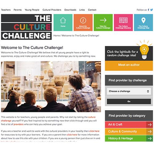 culture challenge website screen shot