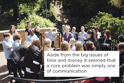 quote: Aside from the big issues of time and money it seemed that a core problem was simply one of communication