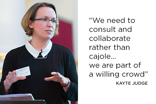 Quote: we needed to consult and collaborate rather than cajole... we were part of a willing crowd