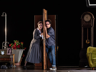 Olga Peretyatko as Norina and Ioan Hotea as Ernesto in Don Pasquale, The Royal Opera © 2019 ROH. Photograph by Clive Barda