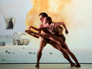 Federico Bonelli and Lauren Cuthbertson in The Royal Ballet's Live Fire Exercise ©Bill Cooper/ROH 2011
