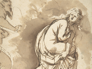 Pen and ink sketch of Susanna by Peter Paul Rubens, The Met Museum