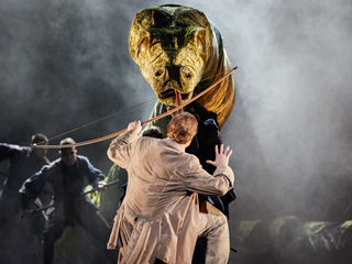 Production image of Act I of The Magic Flute © 2015 ROH. Photograph by Mark Douet