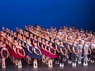 The Grand Défilé at the 2018 Summer Performance ©2018 The Royal Ballet School. Photographed by Tristan Kenton