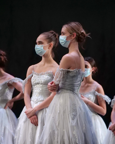 Artists of The Royal Ballet in rehearsal for The Nutcracker, The Royal Ballet © 2020 ROH. Photograph by Rachel Hollings