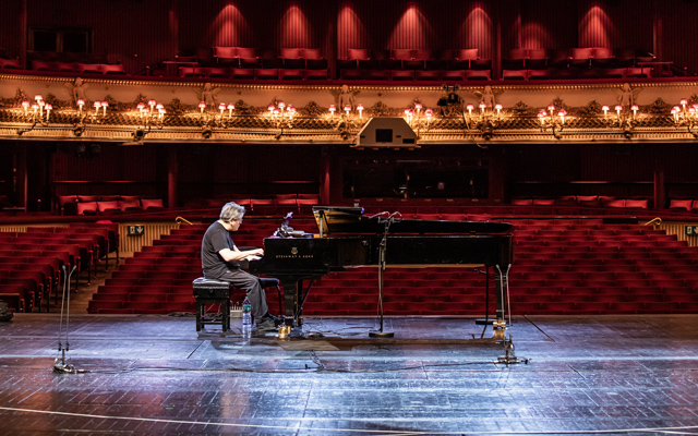 Antonio Pappano in rehearsal for Live from Covent Garden, 13 June 2020 ©2020 ROH. Photograph by Lara Cappelli