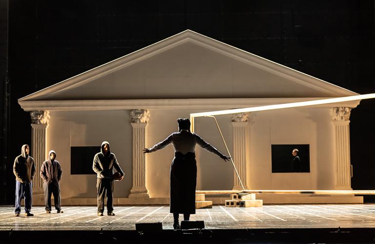 Production image of La Clemenza di Tito, The Royal Opera ©2021 ROH. Photograph by Clive Barda