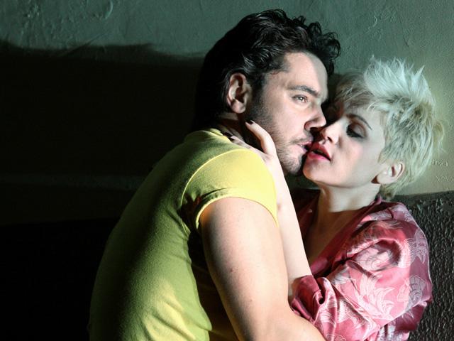 Carmen Giannattasio as Nedda and Dionysios Sourbis as Silvio in Pagliacci © 2015 ROH. Photograph by Catherine Ashmore