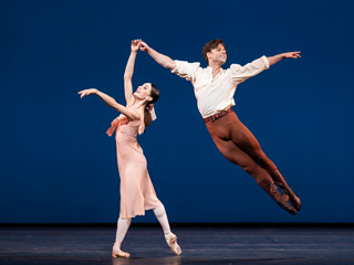 Marianela Nuñez and Alexander Campbell in Dances at a Gathering ©2020 ROH. Photograph by Bill Cooper