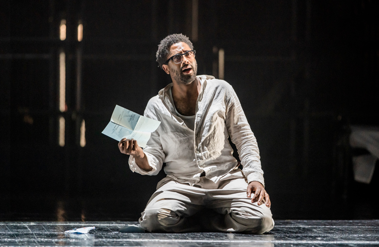 Peter Brathwaite in The Knife of Dawn, The Royal Opera ©2020 ROH. Photograph by Tristram Kenton