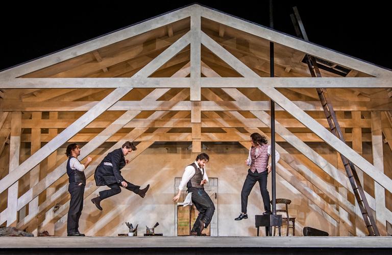 Production photo of La bohème, The Royal Opera ©2020 ROH. Photograph by Tristram Kenton