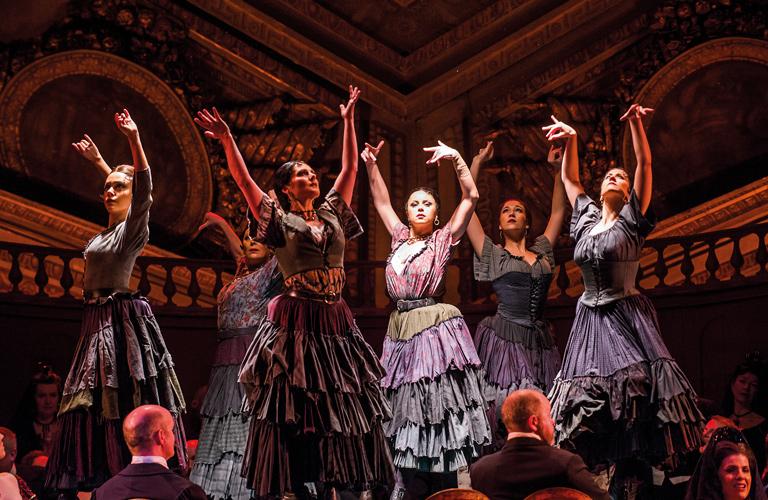 Production photo of La Traviata, The Royal Opera ©2016 ROH. Photograph by Tristram Kenton