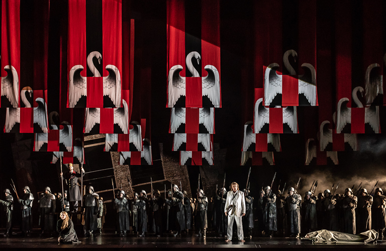 Production Image of Lohengrin, The Royal Opera ©2018 ROH. Photograph by Clive Barda