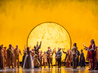 Production image of The Magic Flute ©2017 ROH. Photograph by Tristram Kenton