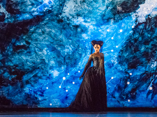 Sabine Devieilhe as Queen of the Night in The Magic Flute © ROH 2017. Photograph by Tristram Kenton.
