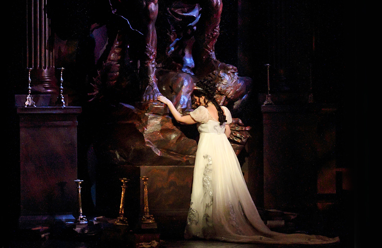 Angela Gheorghiu as Tosca in Tosca ©2015 ROH. Photograph by Catherine Ashmore