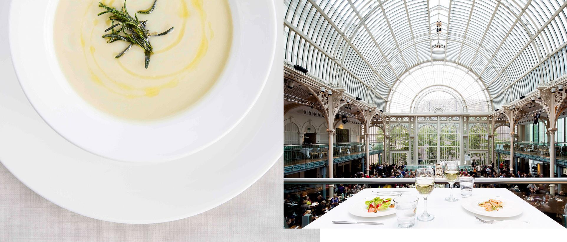 Delicious food and drink served in the Royal Opera House restaurants.