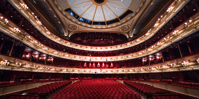 The auditorium of the Royal Opera House